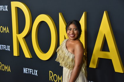 Yalitza Aparicio began to suffer from melasma after the publicity tour of Rome, in 2019 (Photo: EFE)